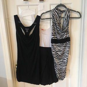 Lot of 3 black & white dresses